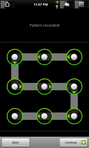 An example of the Android unlock pattern